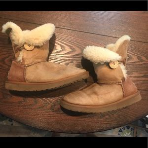 UGG Australia Sheepskin Button Boots
